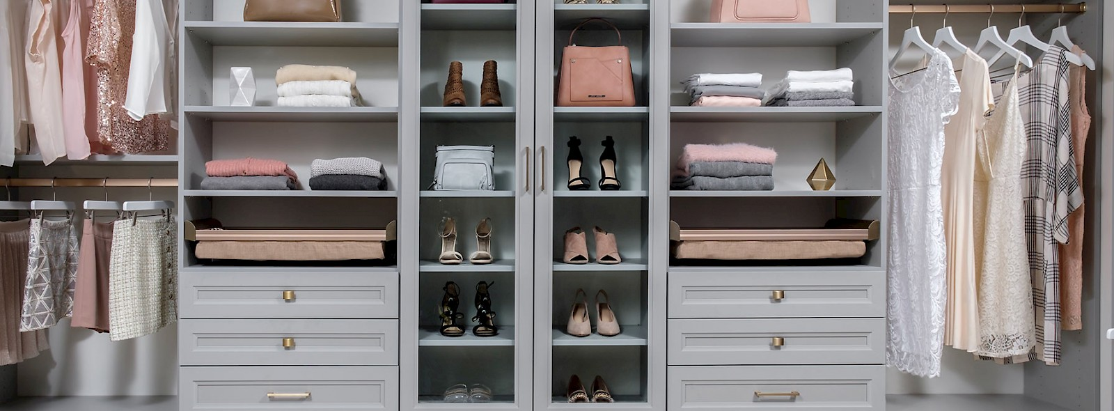 Walk In Closet with Cloud Finish