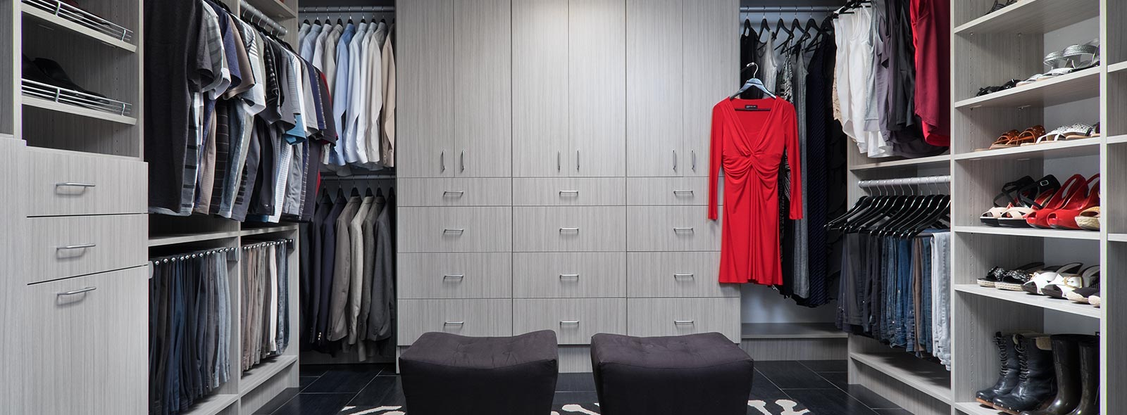 Walk In Closet with Concrete Finish