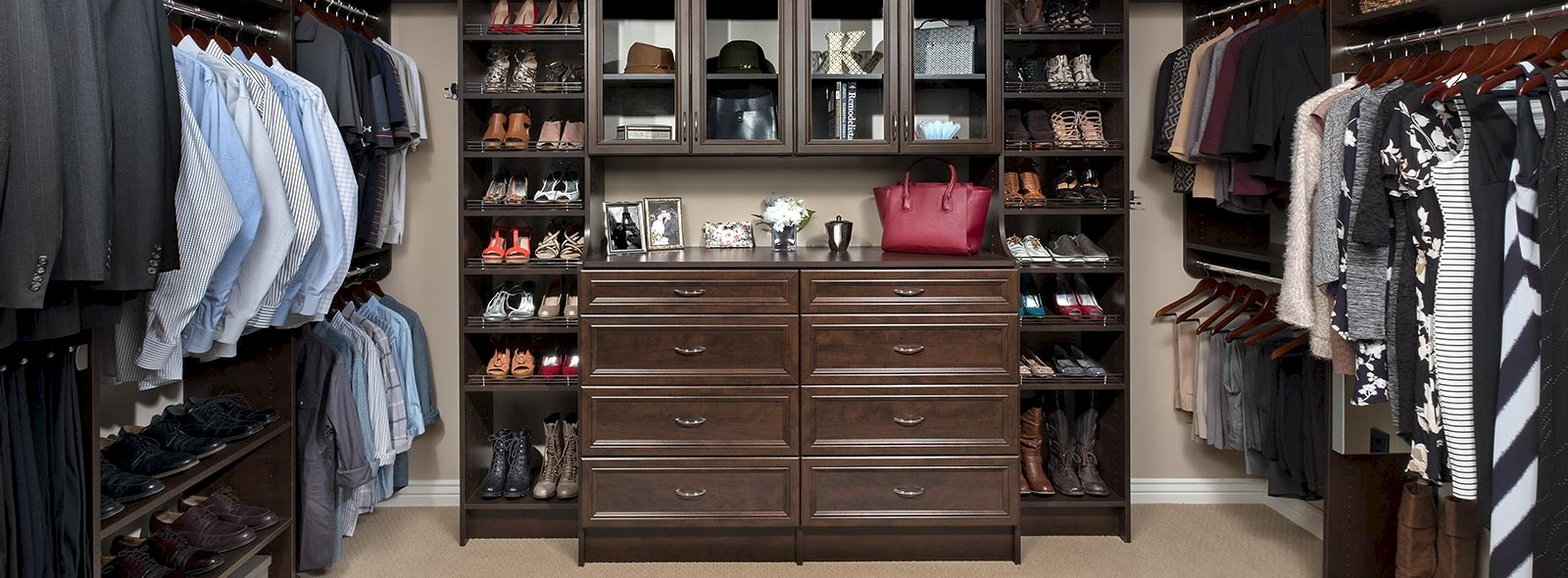 Walk In Closet with Chocolate Pear Finish