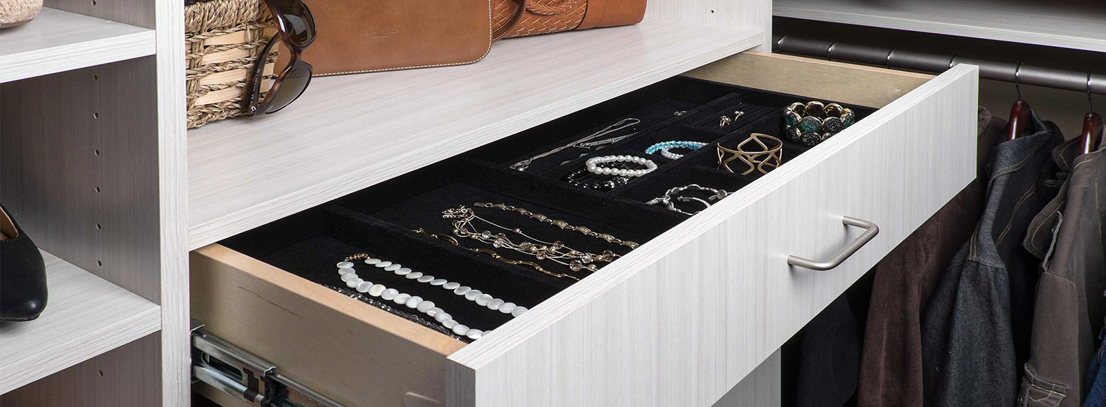 velvet double drawer black closet organizer jewelry contemporary deck custom