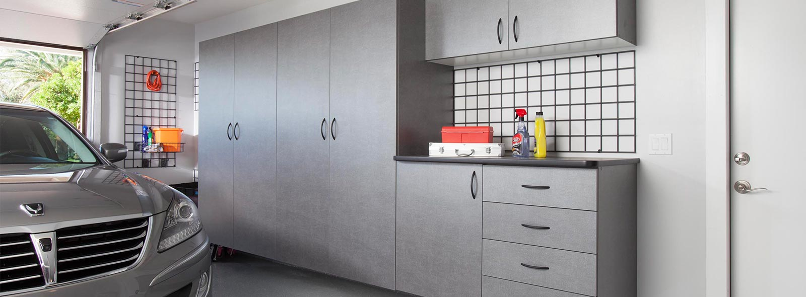 Pewter Garage Cabinets