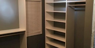 White Custom Closet Shelving System